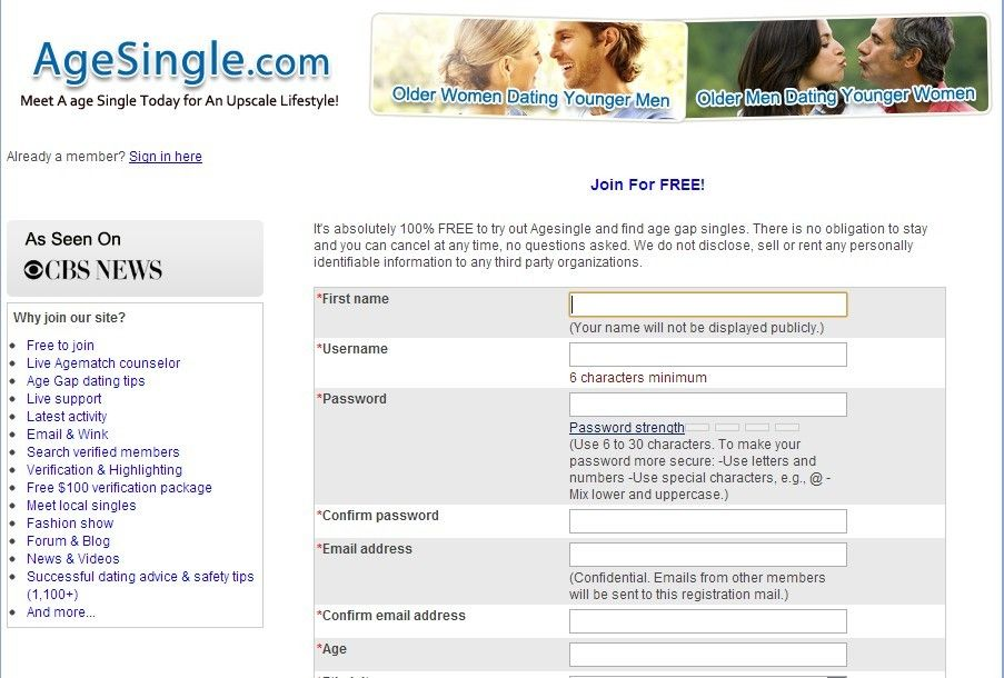 Older Men Dating Site