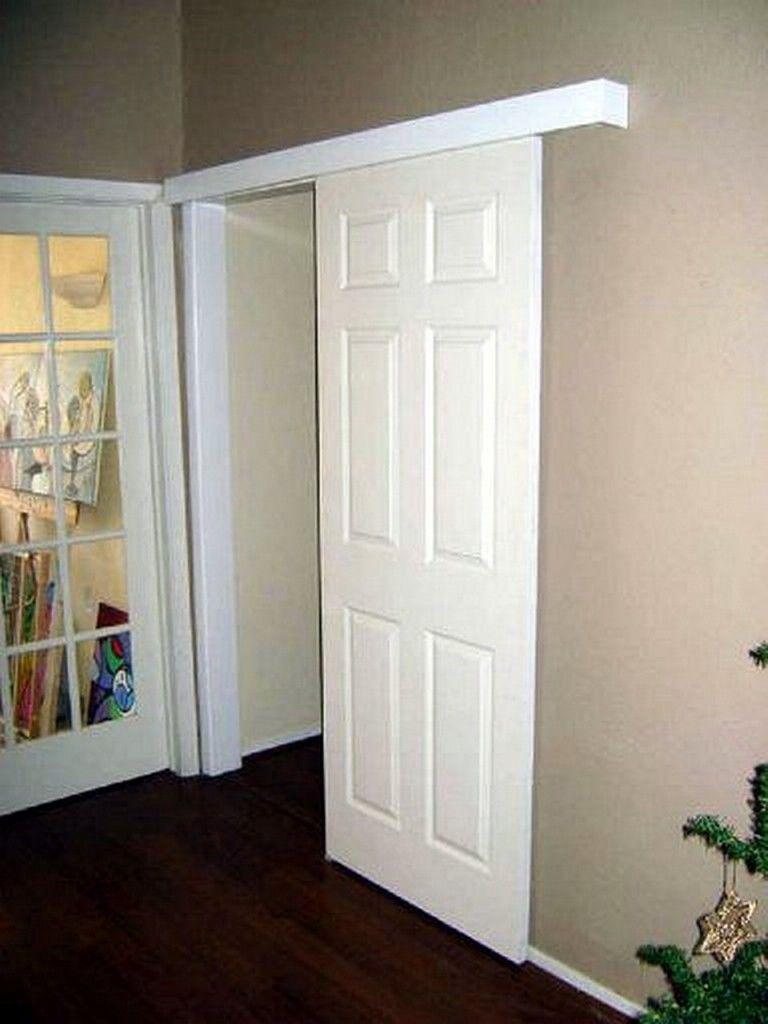 Single Wall Mount Sliding Door Installations (white partial open ...