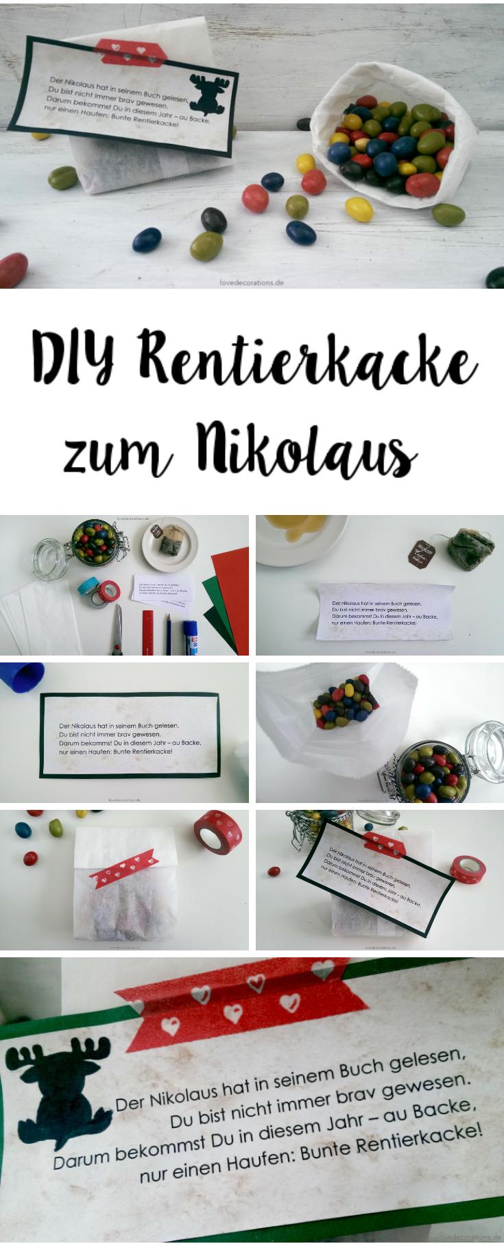 Zum Nikolaustag: Bunte Rentierkacke | Geschenke | Weihnachten ...