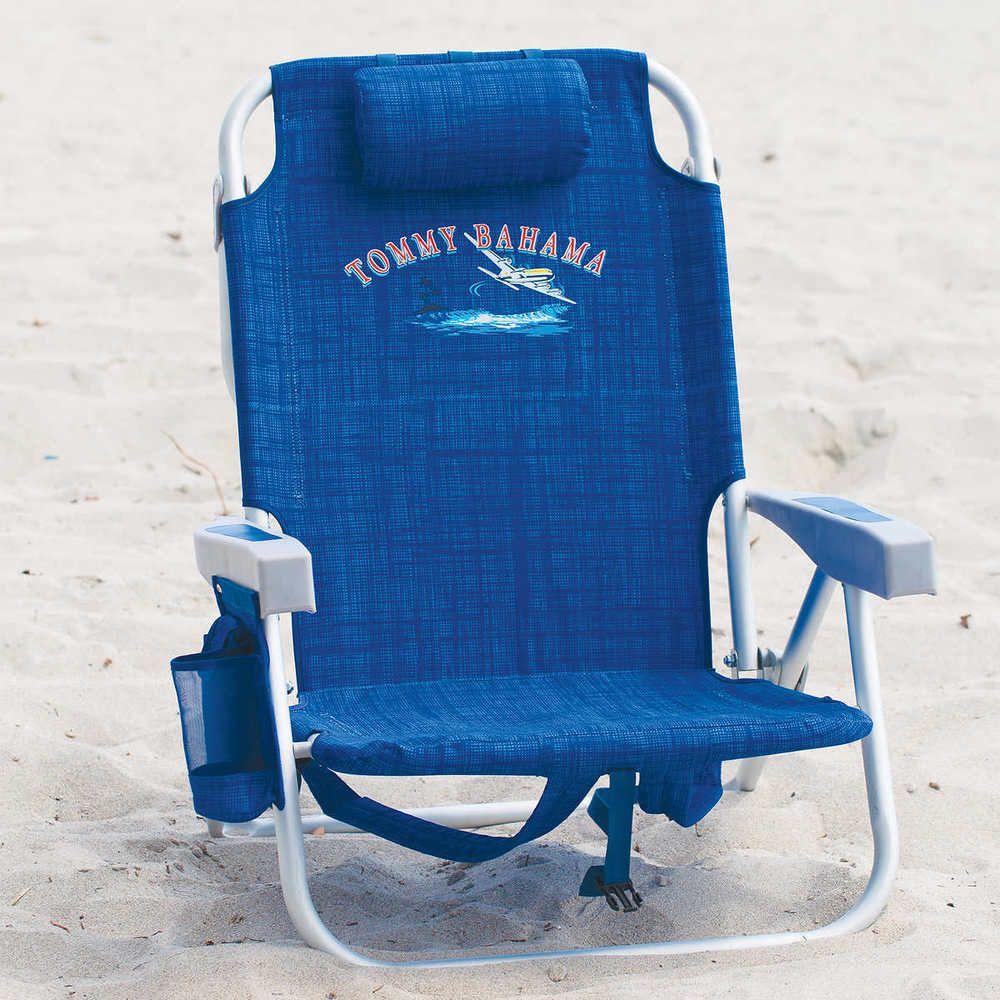 Tommy Bahama Backpack Beach Chair Blue Color Tommybahama