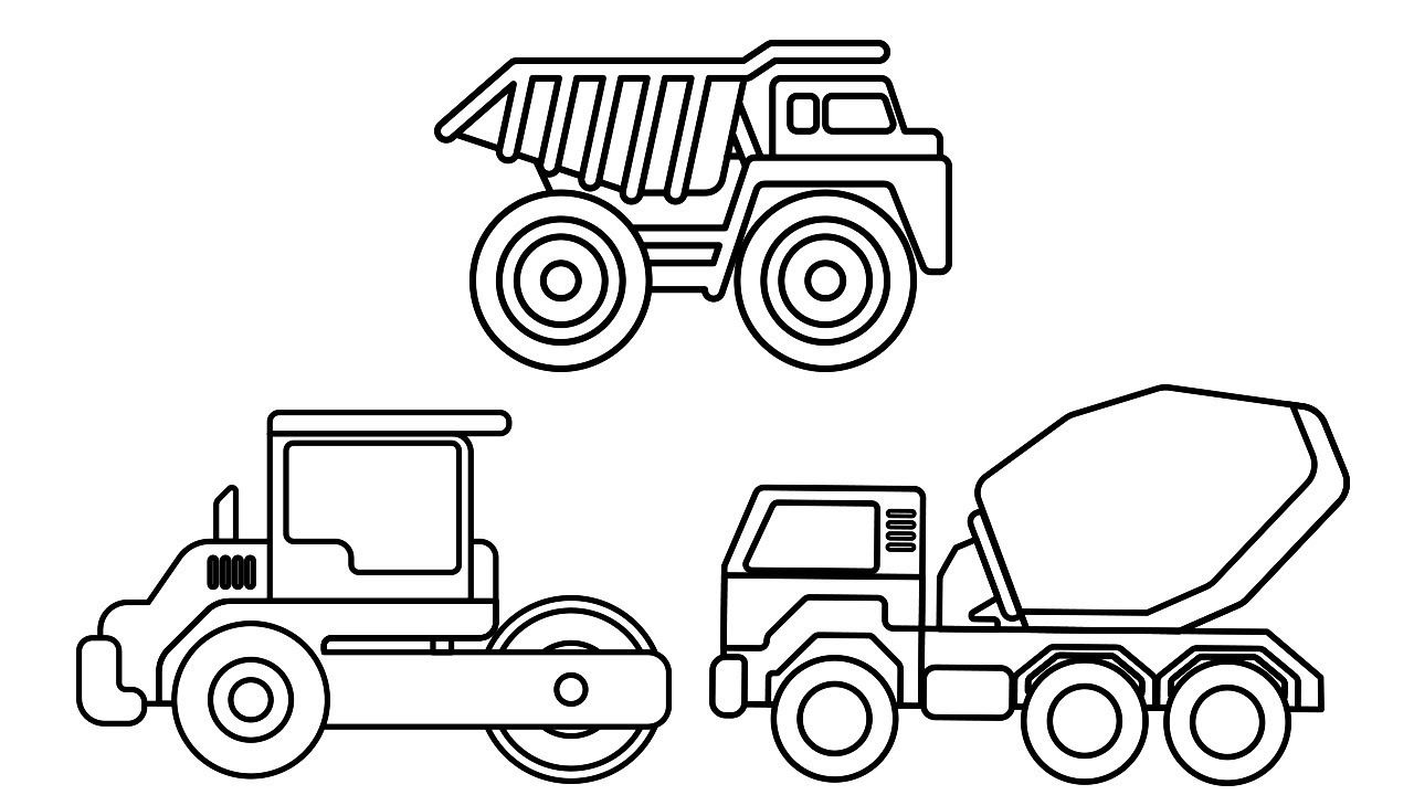 Best Construction Truck Colouring Pages For Kids, Dump