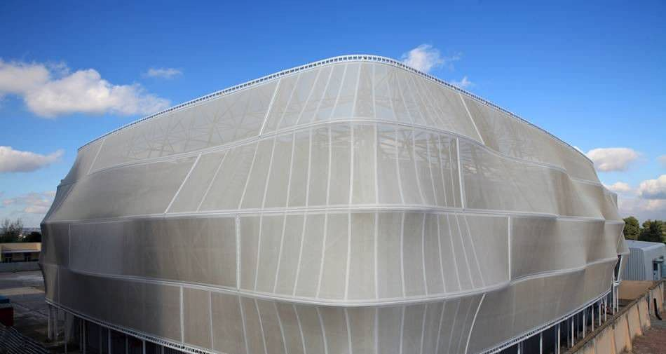 Fiberglass architectural fabric ptfe roof for for Fiberglass architectural columns