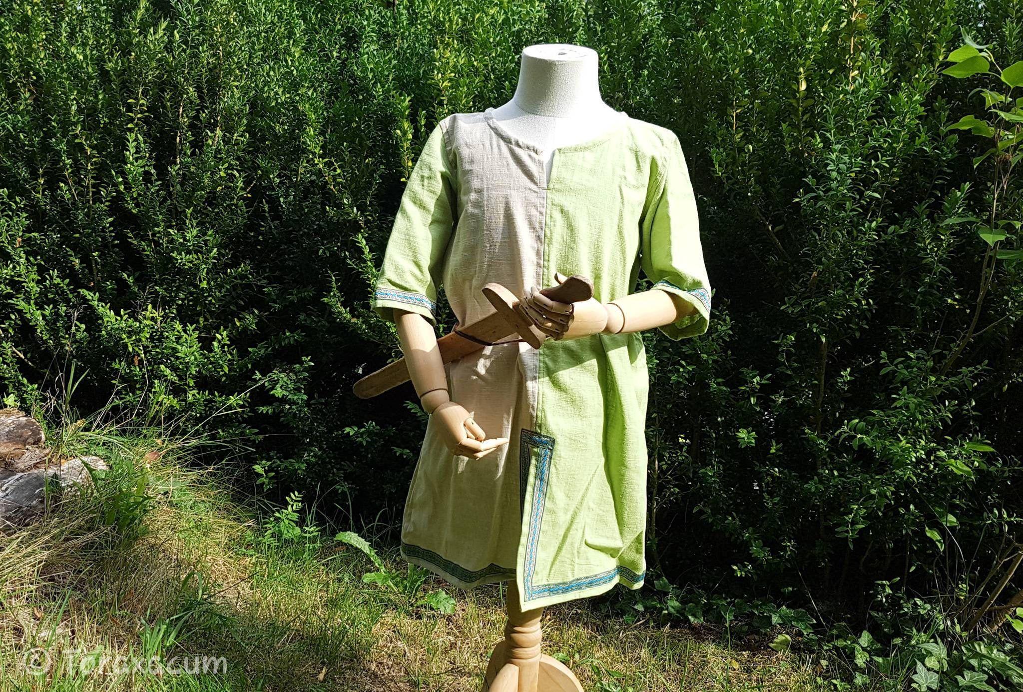Leg Wrap Wool Brown Kids Calf Wrap Viking Ranger Costume Cosplay Medieval Boys SCA Toraxacum LARP
