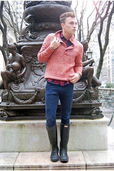 sale retailer 60b53 1c783 black-wellington-hunter-boots-navy-slim-fit-diesel-jeans and ...