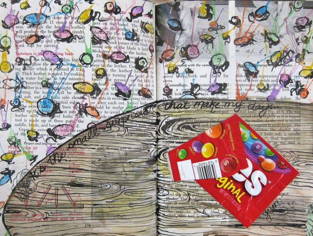 Visual Journal Page 57 Skittles