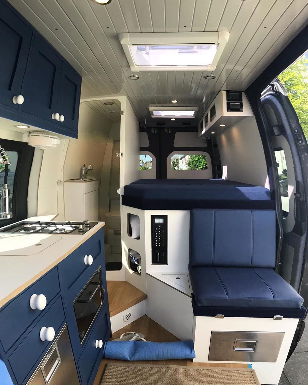 """Photo of Van Boy Life on Instagram: """"• First blue interior I've seen in a way and it's growing on me actually☺️ . 📸 @adventures_by_campervan . Please show some ♥️ and follow…"""""""