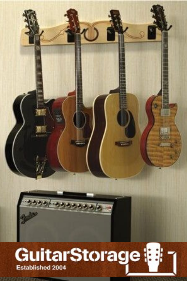 The Pro File Wall Mounted Multi Guitar Hanger Guitar Wall Hanger Guitar Storage Guitar Hanger
