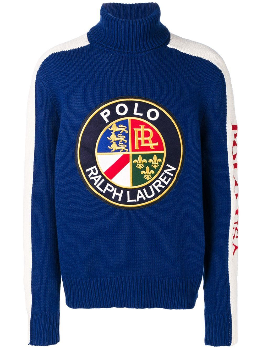 save off f5399 26587 Polo Ralph Lauren logo patch sweater - Blue in 2019 ...