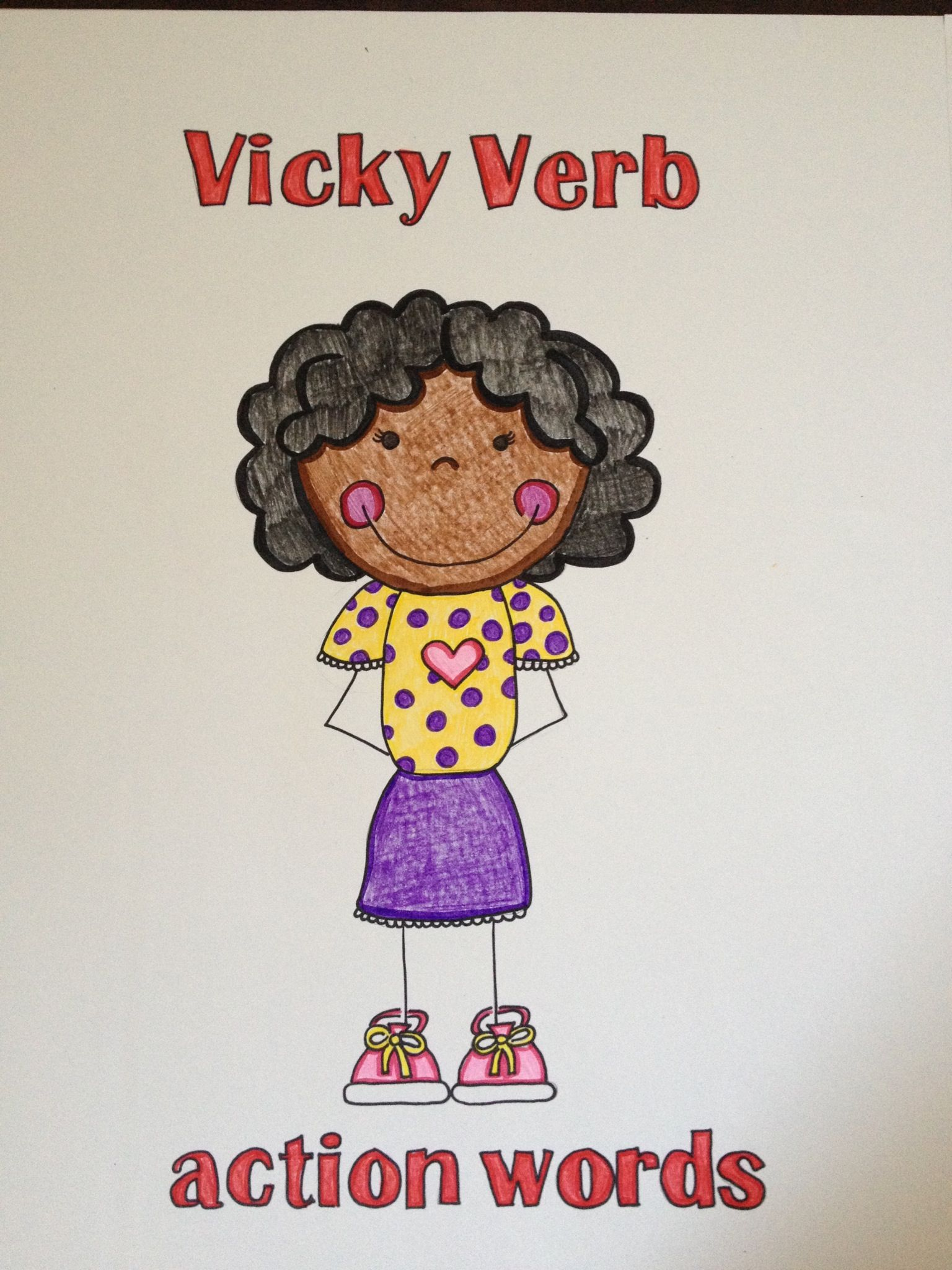 Vicky Verb Poster A Way To Teach Parts Of Speech Verbs