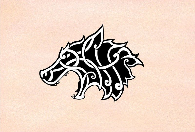 Celtic Viking Wolf By Robs0n On Deviantart Norse Tattoo Viking Art Celtic Wolf Tattoo
