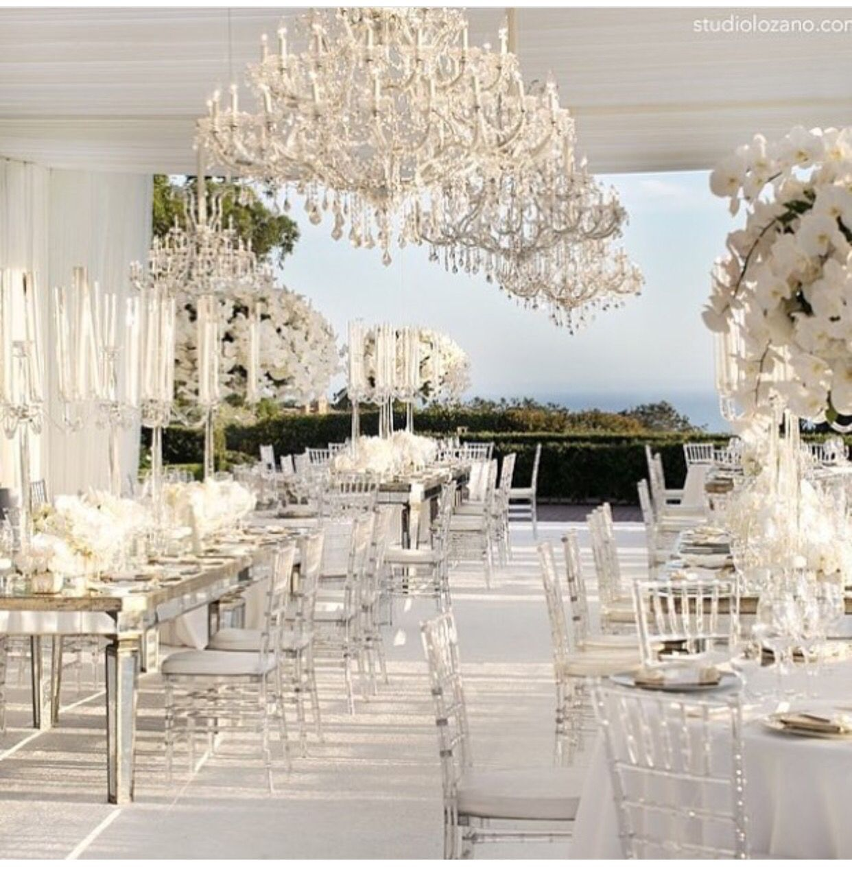 Cheap Wedding Reception Venue Ideas: White And Clear Centerpiece A And Decorations; Very Clean