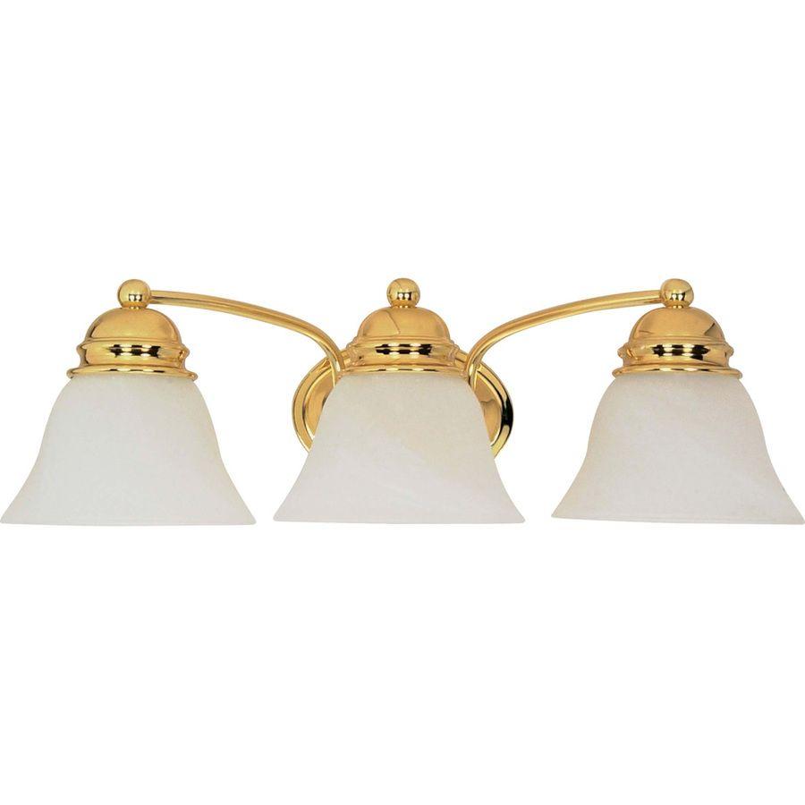 3 Light Polished Brass Vanity Light Light Fixtures Bathroom