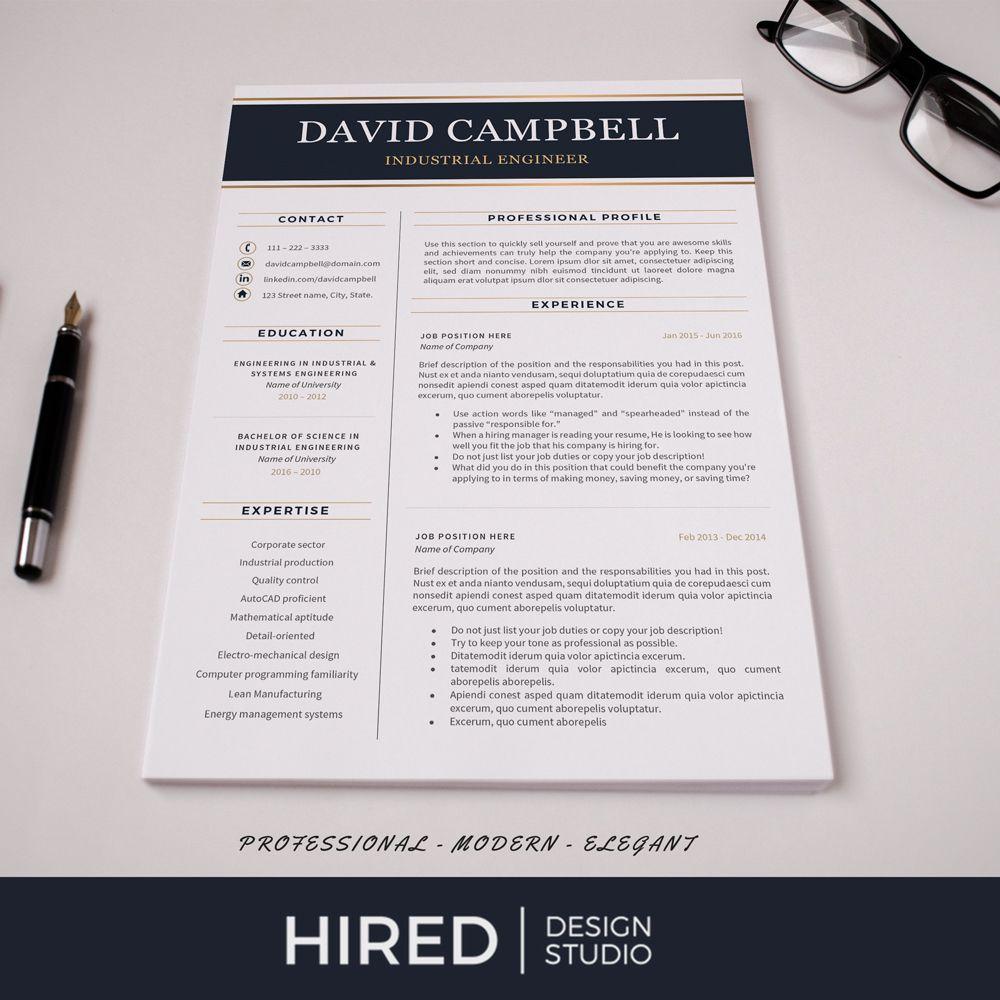 Engineer Resume Template Engineering Resume + Cover