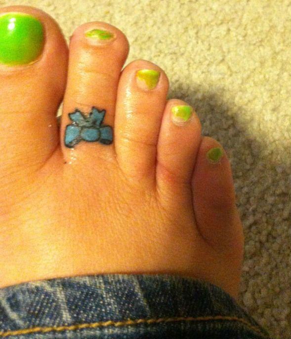 My Toe Tat---(Matt Williams, Black Sheep Tattoo, Pensacola Florida ...
