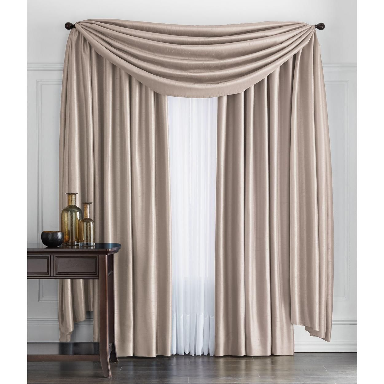 Antique Satin Scarf Valance For 79 90