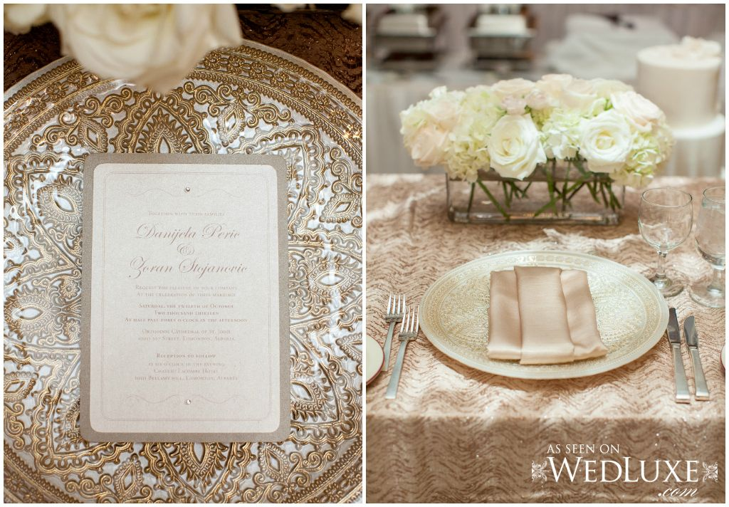 Gold divine charger plate. Elegant gold place setting