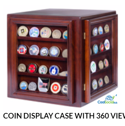 COIN DISPLAY CASE WITH 360 VIEW for more details visit