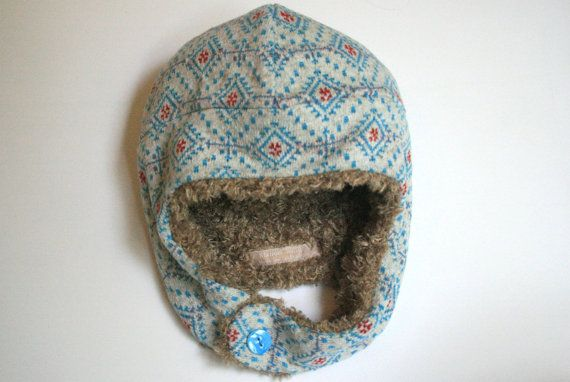 Reversible Winter Hat with Ear Flaps and Side by ManonBoutique, £20.00