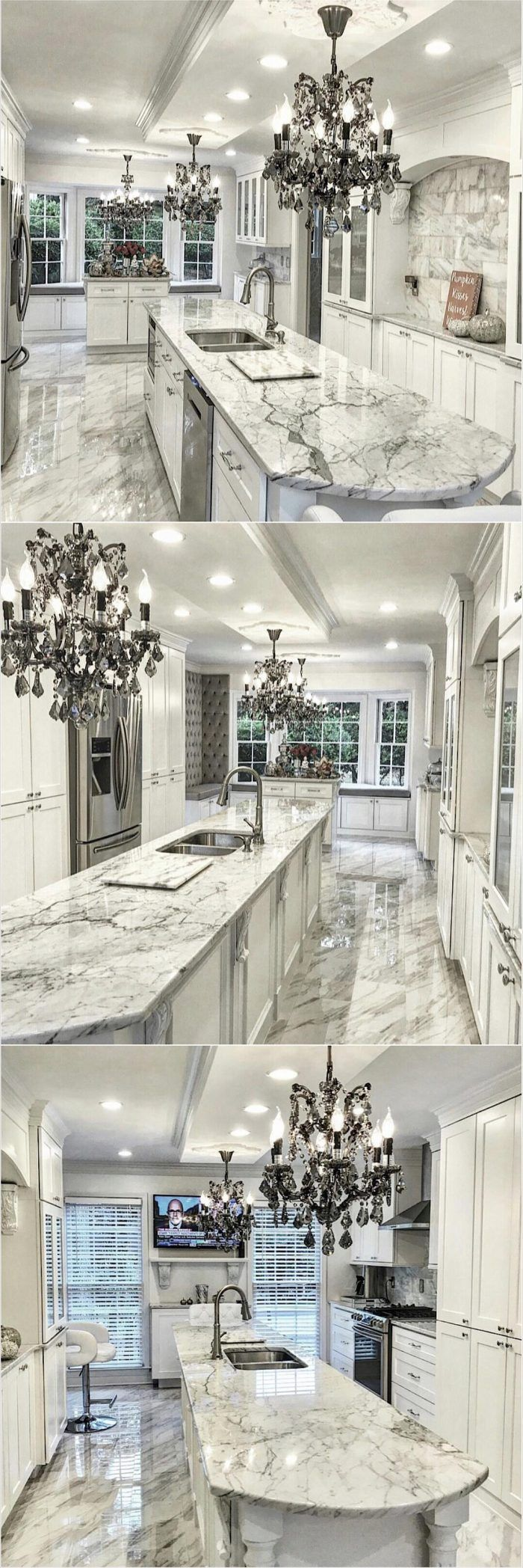 Elegant and beautiful kitchen island and chandelier ideas elegant and beautiful kitchen island and chandelier arubaitofo Images
