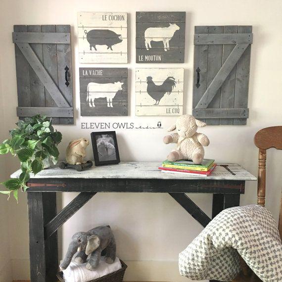 Farmhouse Nursery Decor 4 Pcs Hallway Ad Farm Nursery Theme Farm Baby Nurseries Country Nursery Decor