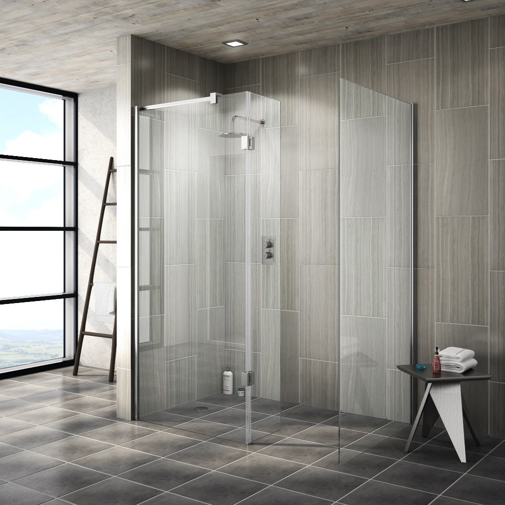 Saturn 8mm (1400 x 900mm) Walk In Shower Enclosure - No Tray ...