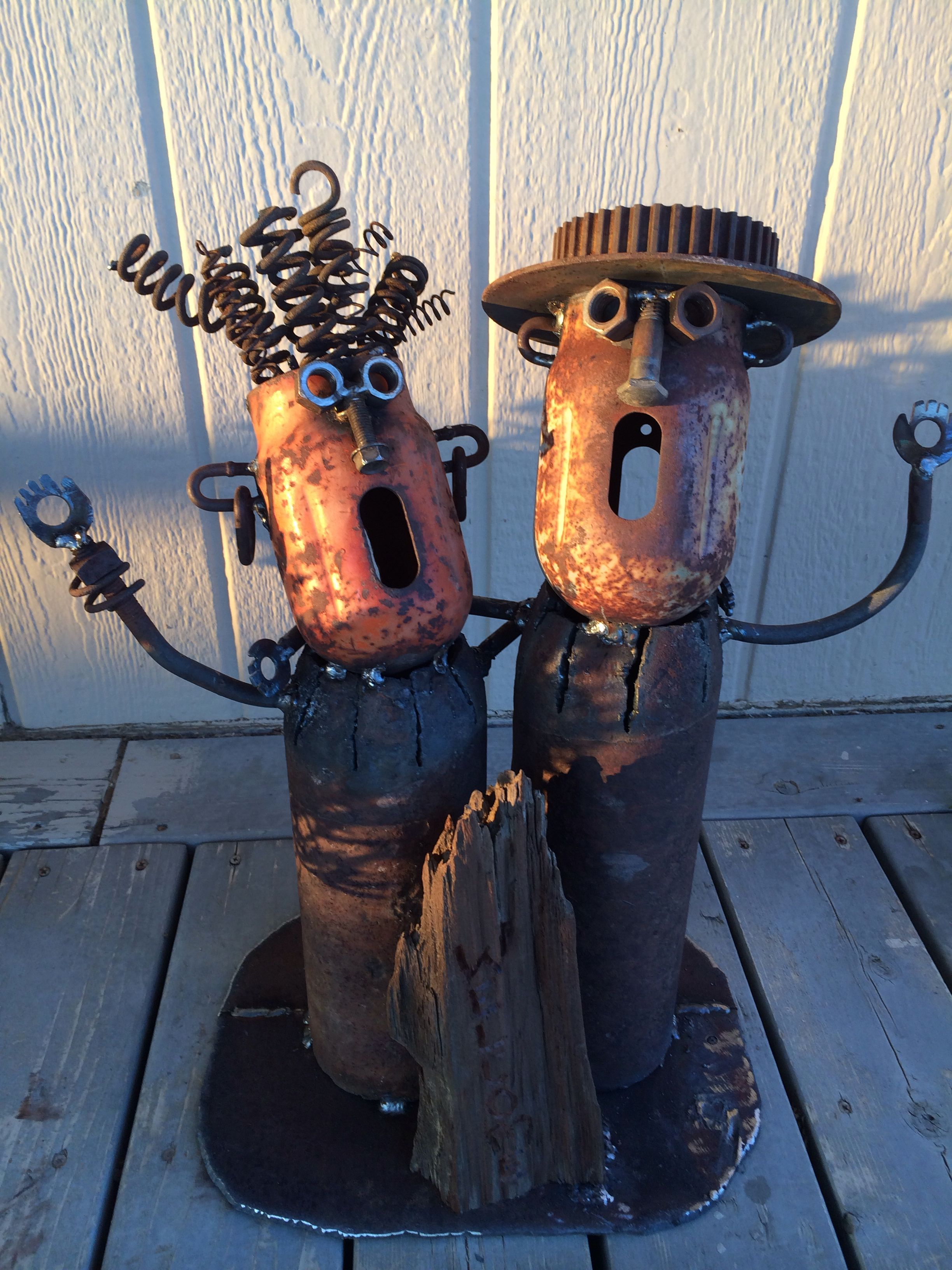 Welded art , fun welding project. (With images)   Metal ...