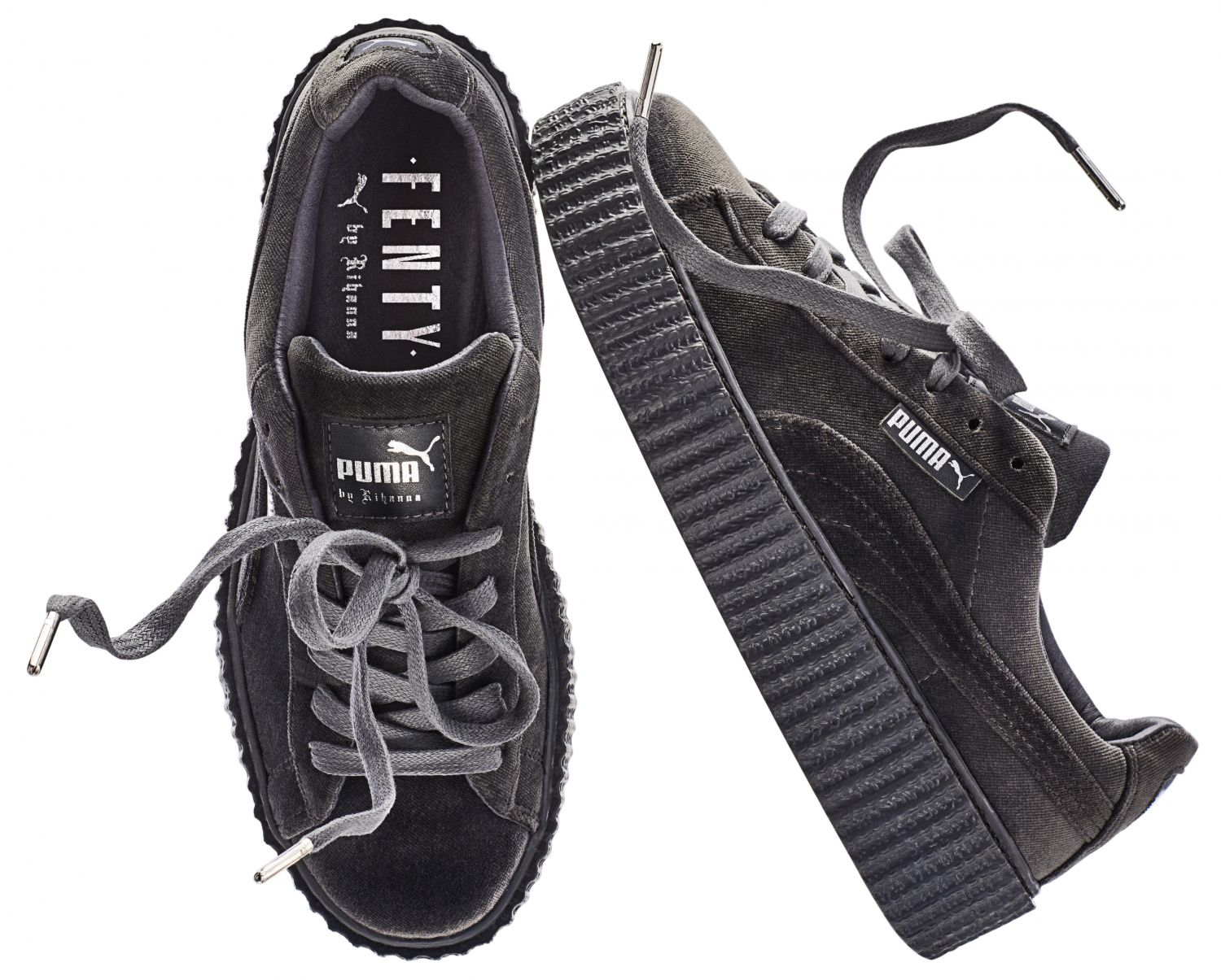 PumaKicks• Fenty By Grises Rihanna Mode Chaussure Creepers XZuOikP