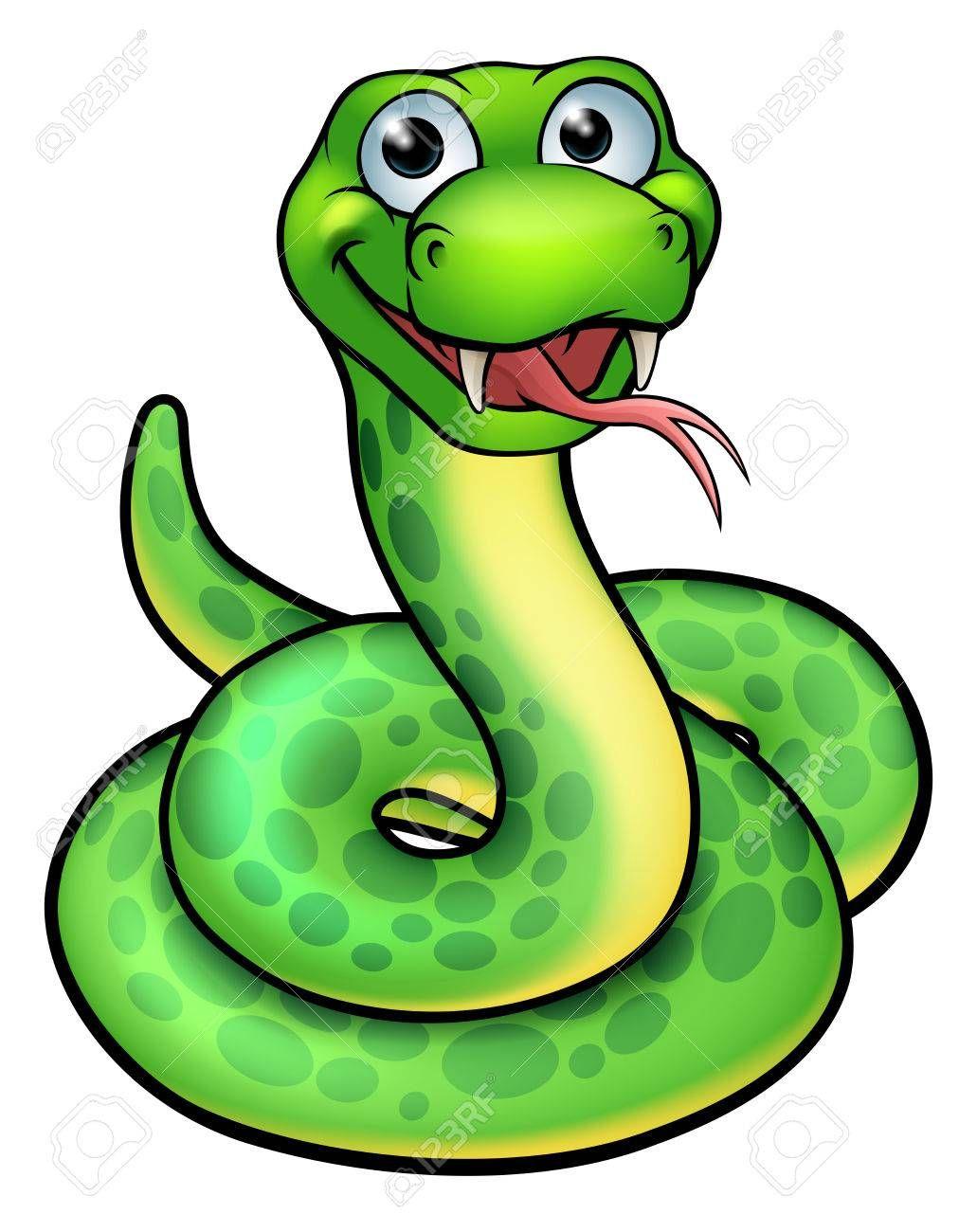An Illustration Of A Cute Cartoon Snake Mascot Sponsored Cute Illustration Cartoon Mascot Snake Bilder Zum Ausdrucken Ausdrucken Dschungelbuch