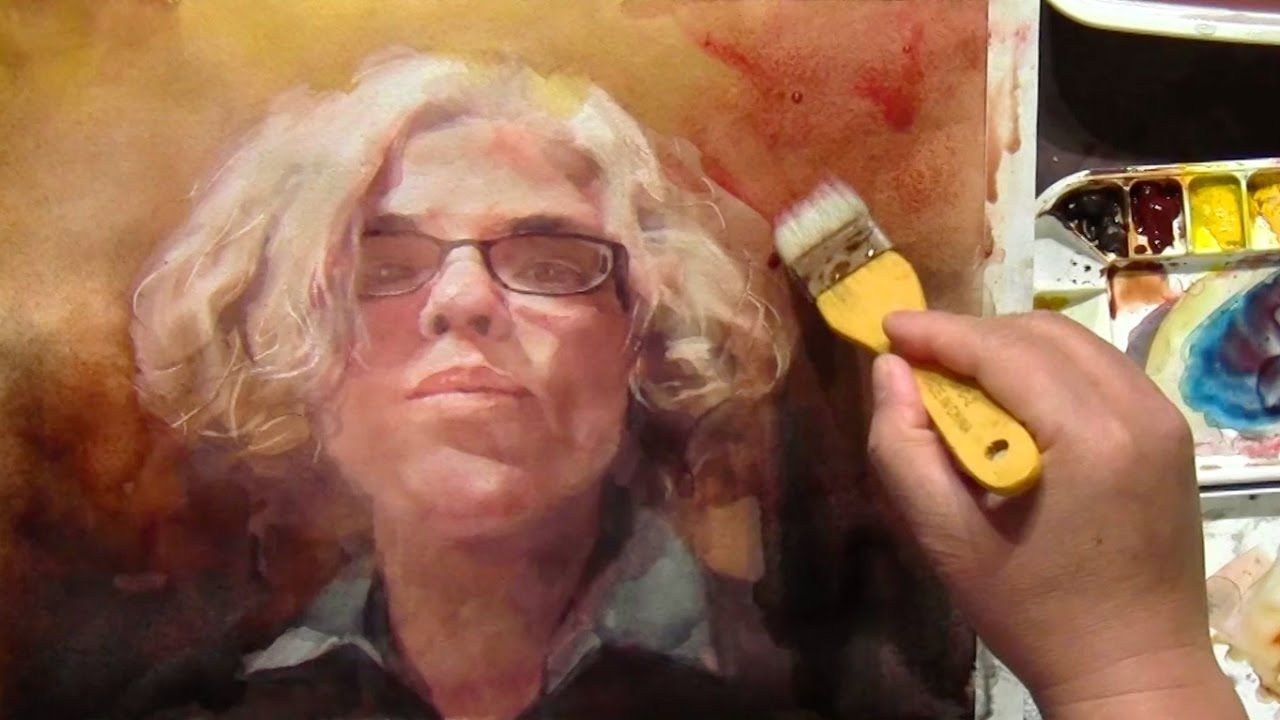 Watercolor Portrait Workshop A Different Painting Approach Step