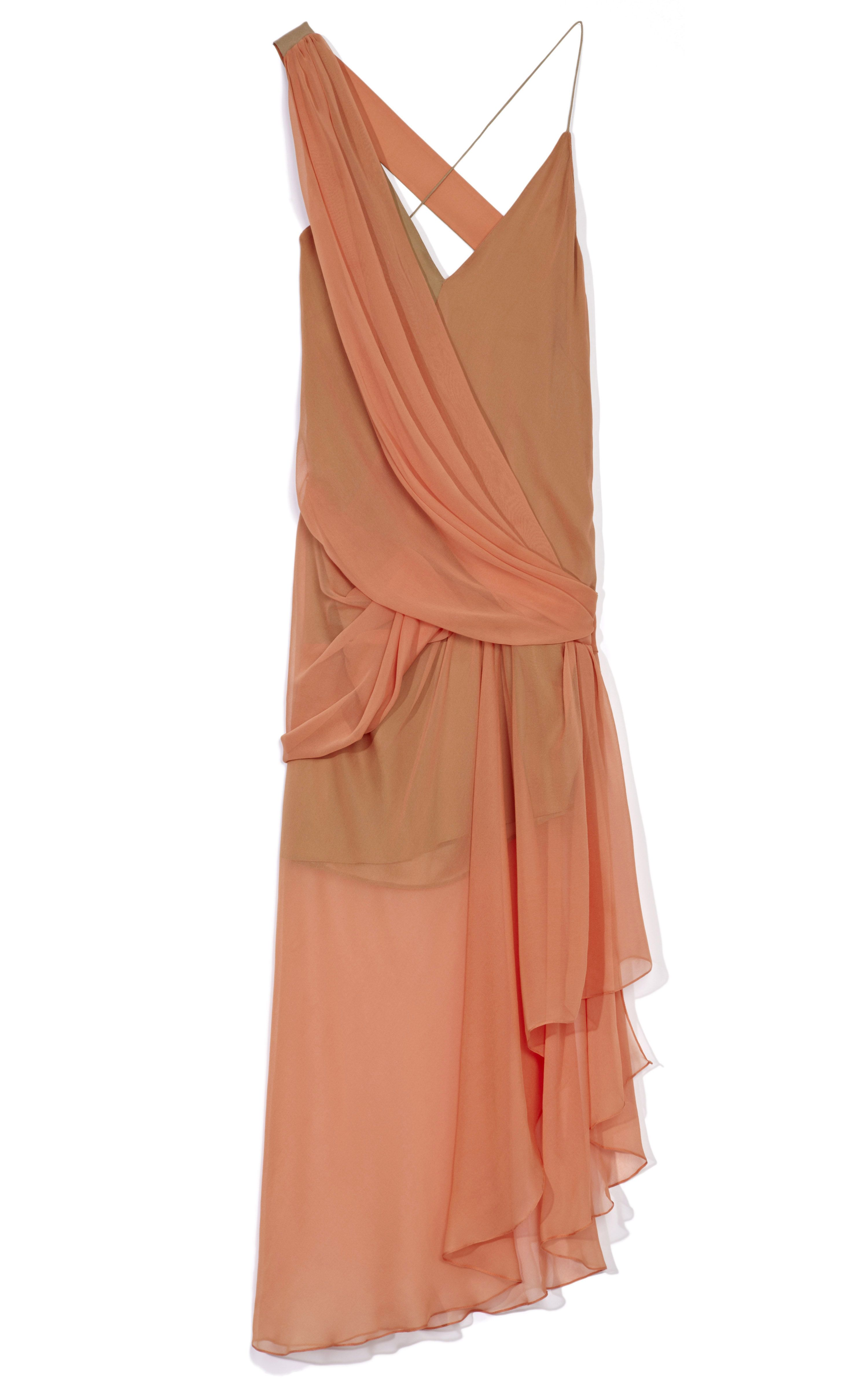 Sophie Theallet's Chiffon and Stretch Charmeuse Draped Dress