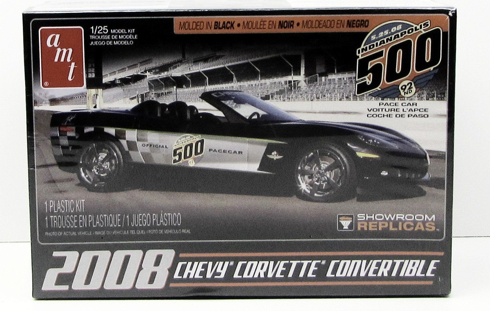 2008 Corvette Convertible AMT 816 1/25 New Car Plastic