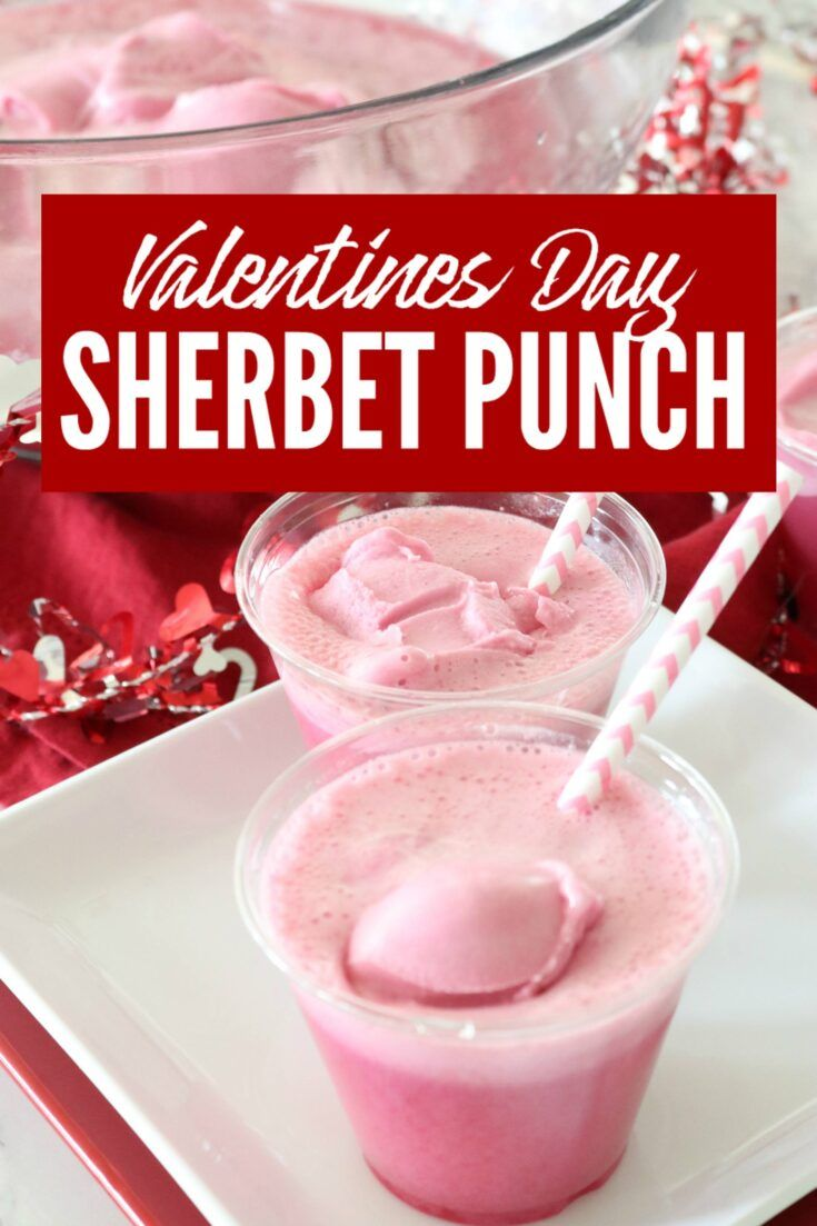Pink Sherbet Punch Recipe Made with Sprite | Perfect for Valentines Day!