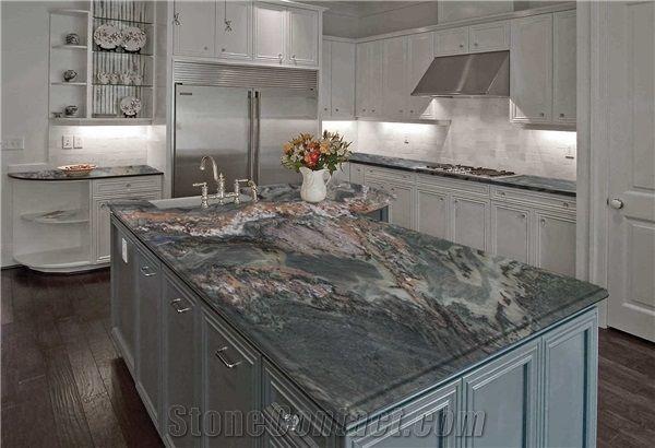 Red Glitter Granite Countertop | Kitchen Countertop Ideas ...