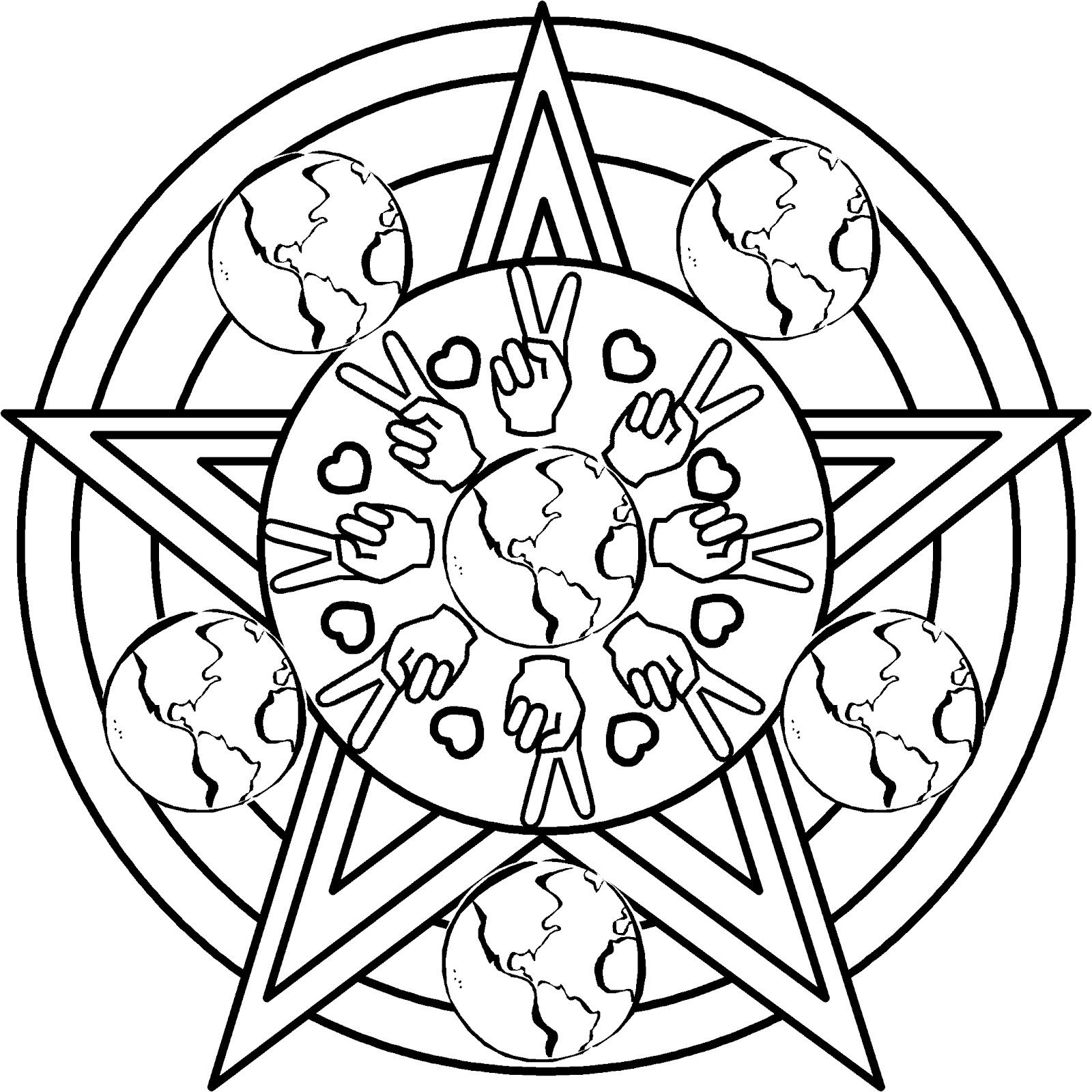 Earth day mandala coloring page earth day coloring pages