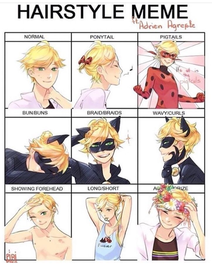 Pin By Heather Payne On Miraculous Pinterest Miraculous - Hairstyle drawing meme