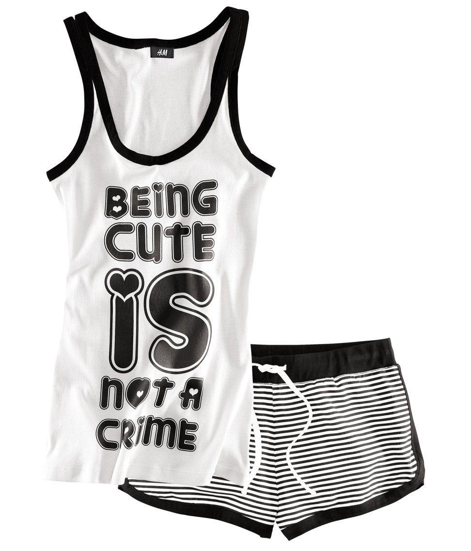 Pijama mujer algodon H I love it