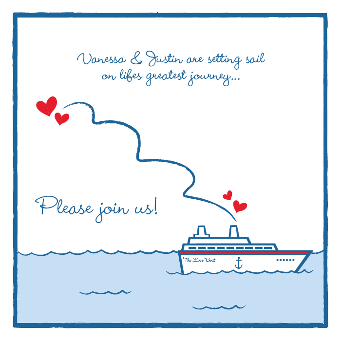 Cruise Themed Bridal Shower Invite I Co-ordinated And