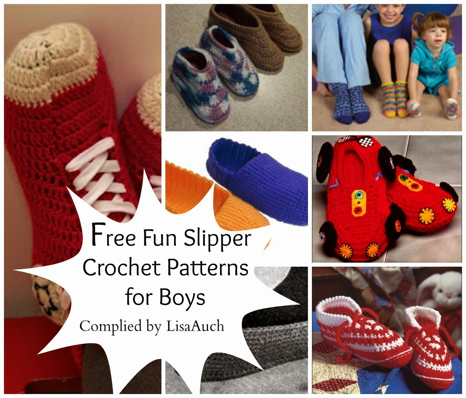 Free crochet slipper patterns for boys free crochet patterns free crochet slipper patterns for boys free crochet patterns bankloansurffo Choice Image