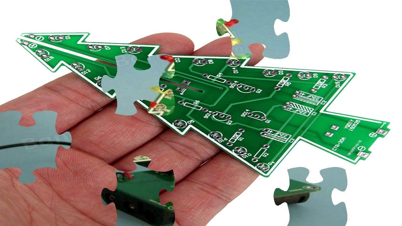 Christmas Tree Led Flash Kit 3d Diy Electronic Learning Kit Hd In 2020 Diy Electronics Christmas Tree Kit Remote Control Robots