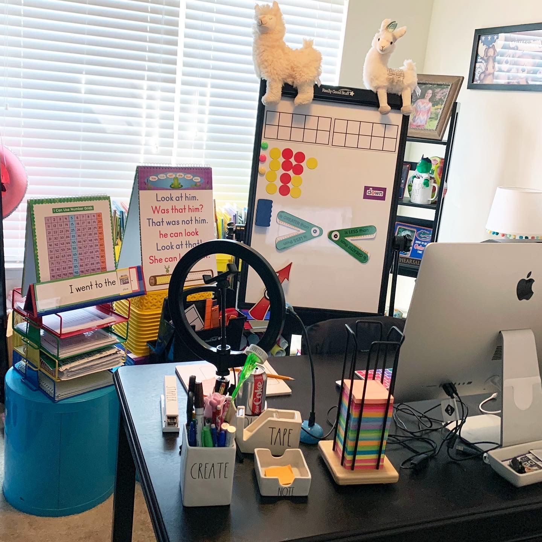 Distance Learning Setup For Teachers Digital Learning Classroom Distance Learning Teachers Office Ideas