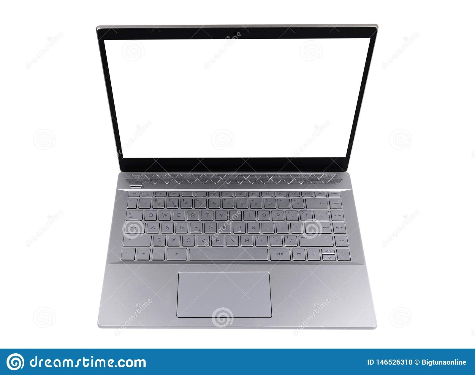 Laptop Computer Pc With Blank Screen Mock Up Isolated On White Background Laptop Isolated Screen Wi Laptop Computers Pc Computer Computer