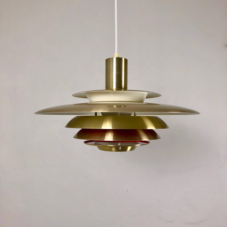Super Light Danish Mid Century Modern Lighting Vintage