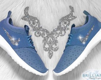 Bling Women's Nike Juvenate Blue or Wolf Grey Customized W/ Swarovski®  Crystals