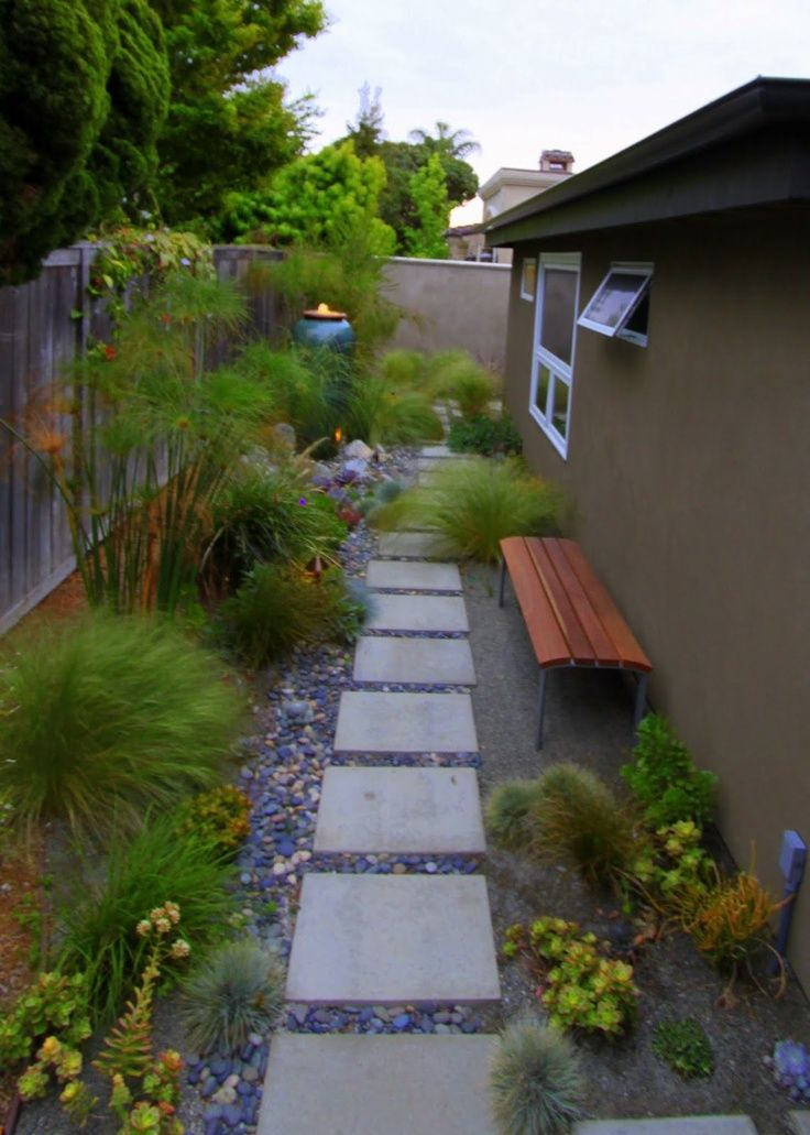 Full Sun Walkway Landscaping