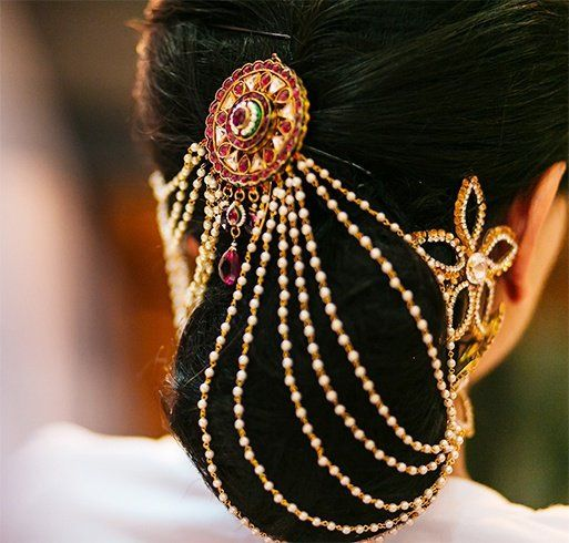 20 Chic Indian Bridal Hair Accessories To For