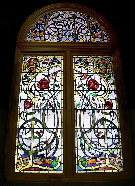 Stained Glass Window By Louis Comfort Tiffany In The Art