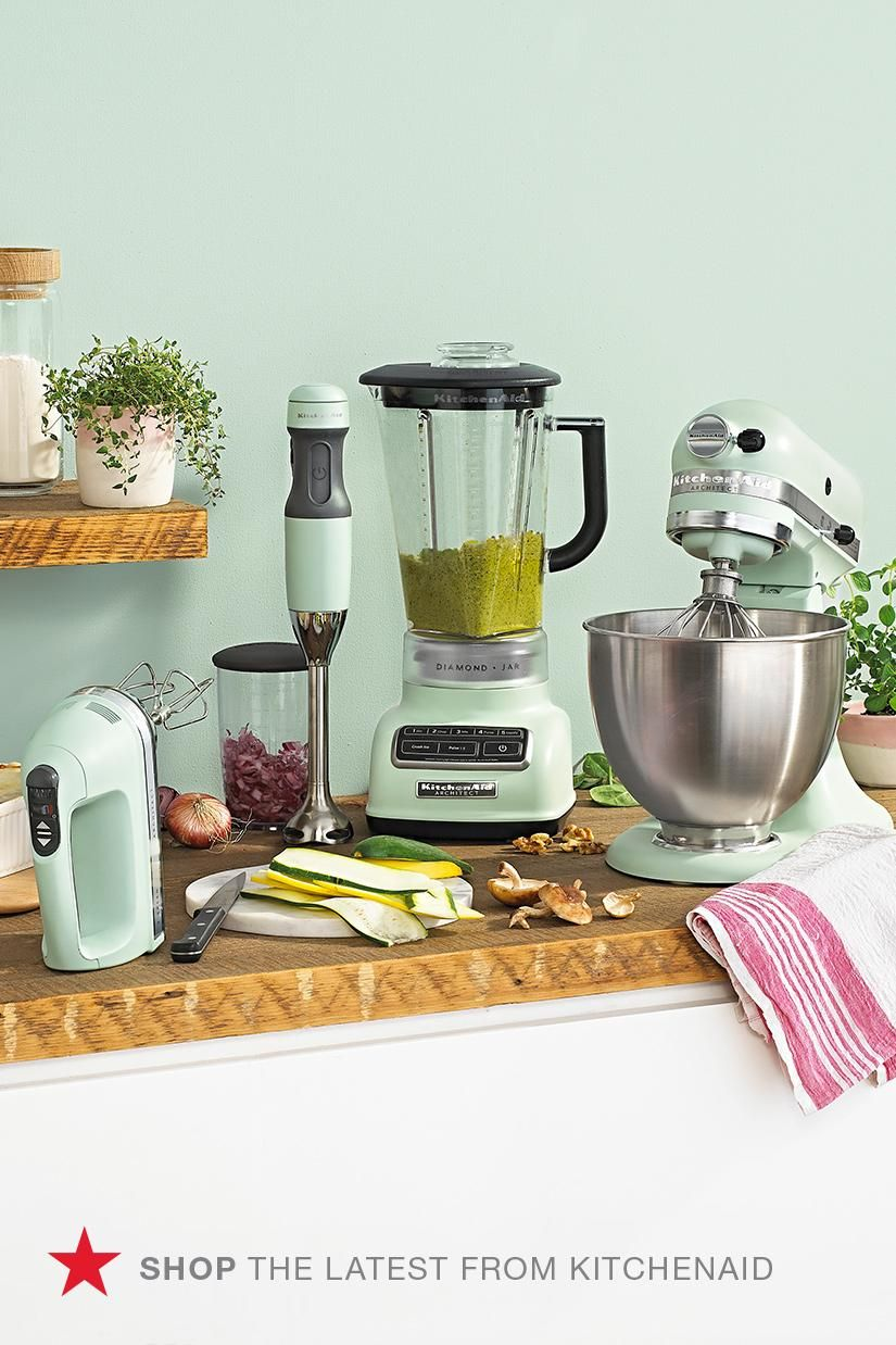 A Hint Of Mint Yes Please Check Out Macys Com To Shop Appliances In Pistachio The Hott Green Kitchen Appliances Mint Green Kitchen Colored Small Appliances