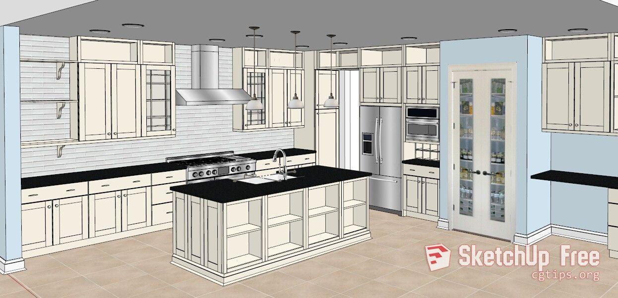 1345 Kitchen Sketchup Model Free Download Bathroom Design Kitchen Inspirations Kitchen Design