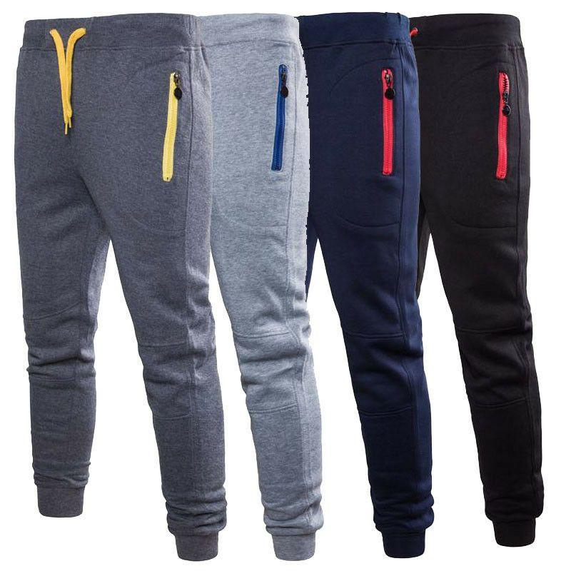 Men Sport Pants Long Trousers Tracksuit Fitness Workout Joggers Gym Sweatpants
