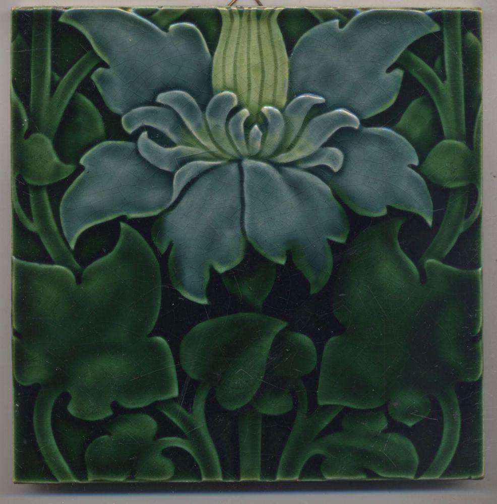 Antique Art Nouveau Tile Pilkington Lewis F Day 1901 With Images Art Nouveau Tiles Art Deco Tiles Art Nouveau Design